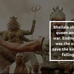 And you thot you knew why Kattappa killed Baahubali